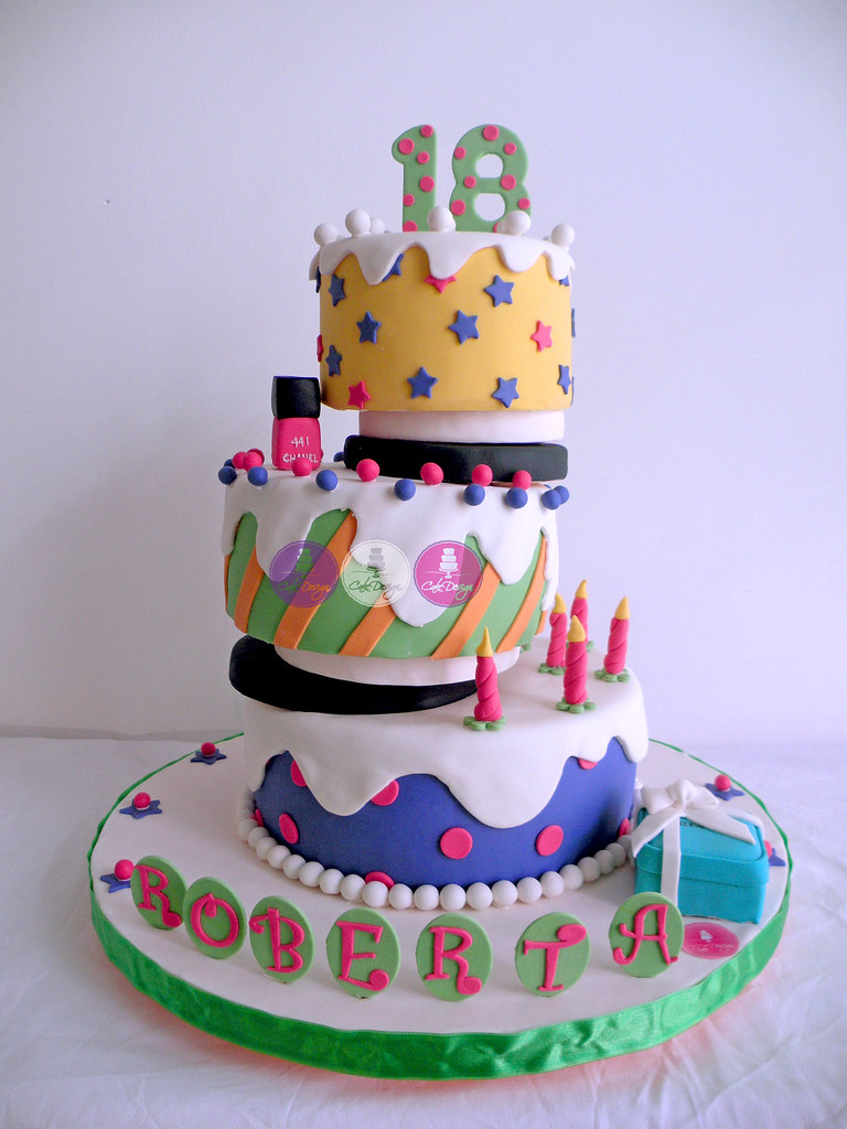 Cool Funky Offset Birthday Cake Giusy Verni Flickr Personalised Birthday Cards Arneslily Jamesorg