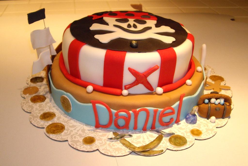 Excellent Pirate Birthday Cake Pirate Birthday Cake Gina Choo Quan Flickr Birthday Cards Printable Inklcafe Filternl