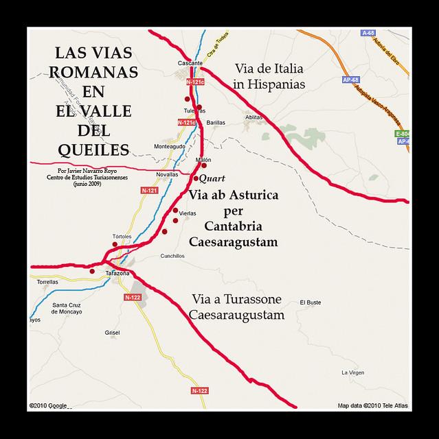 Las vías romanas en el valle del Queiles(l)