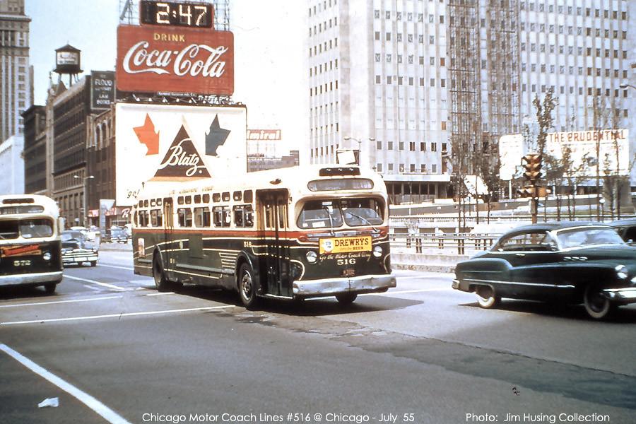 Historic photo! Chicago Motor Coach Company GMC transit bu