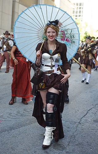 Steampunk Lady in the 2010 Dragon*con Parade | by vladeb
