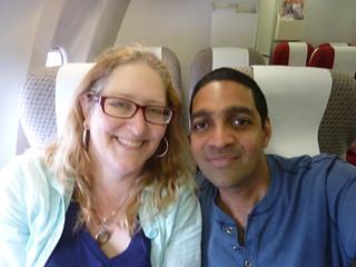 Julie and Sanjay Flying HIGH !!! ;-)   by Jennifer Kumar