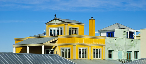 blue color rooftop yellow seaside florida highway30a