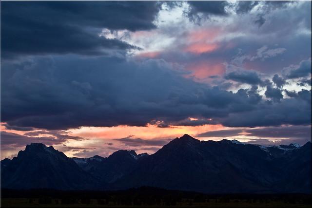Sunset on the Tetons