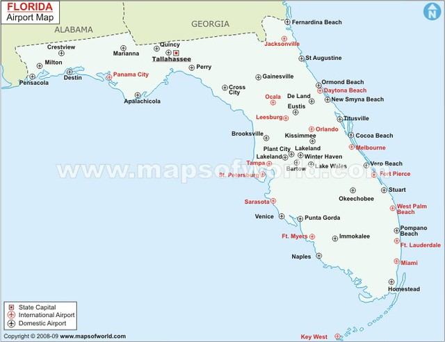 florida map with airports Florida Airports Map Www Mapsofworld Com Usa States Florid Flickr florida map with airports