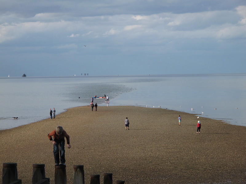 Frisbee on the beach Whitstable