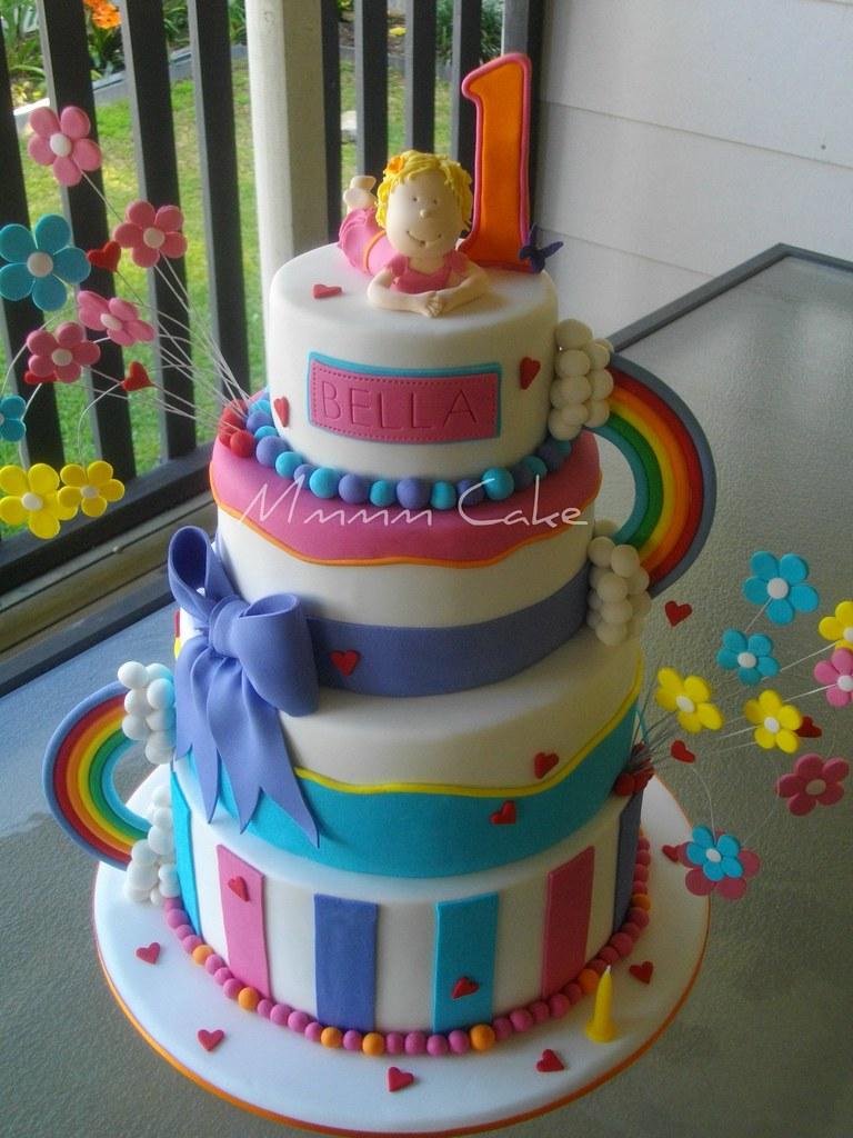 Surprising My Baby Girls 1St Bday Cake Bellas 1St Birthday Cake Flickr Funny Birthday Cards Online Alyptdamsfinfo