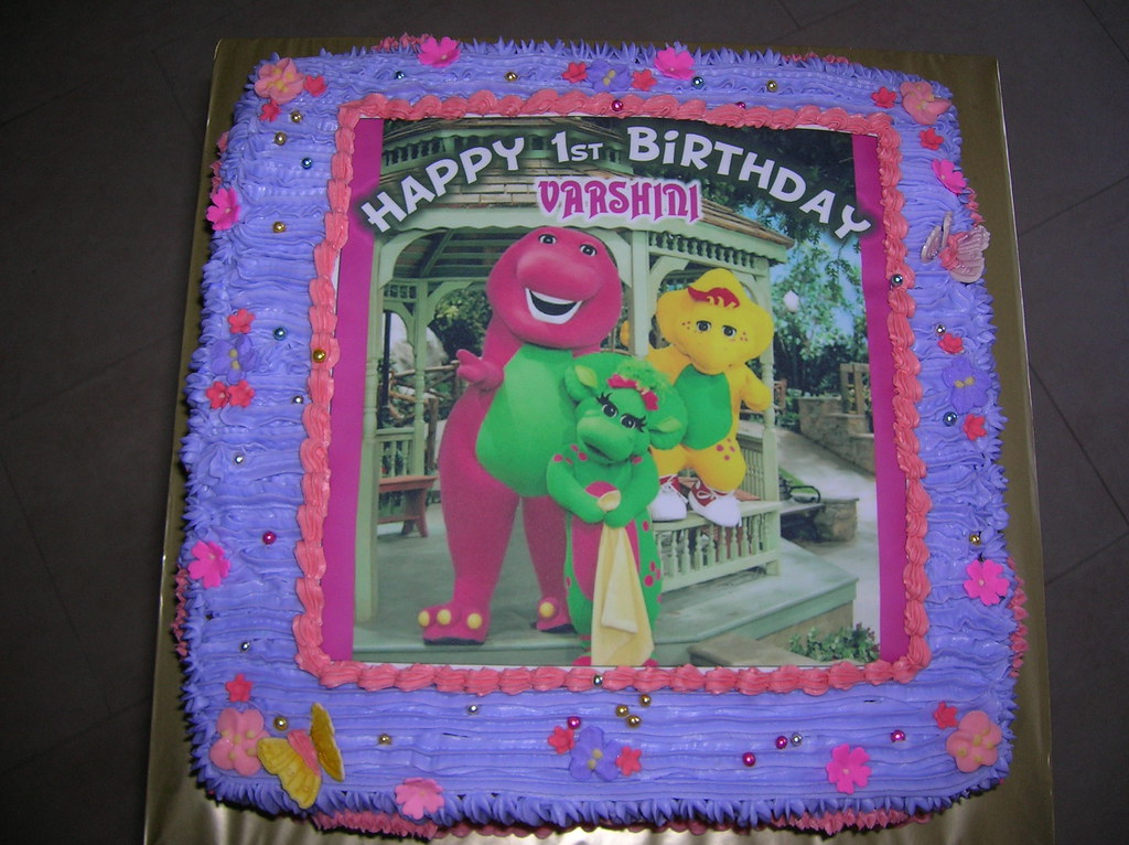 Cool Barney Birthday Cake 7 Barney Birthday Cake Renuga Flickr Funny Birthday Cards Online Necthendildamsfinfo