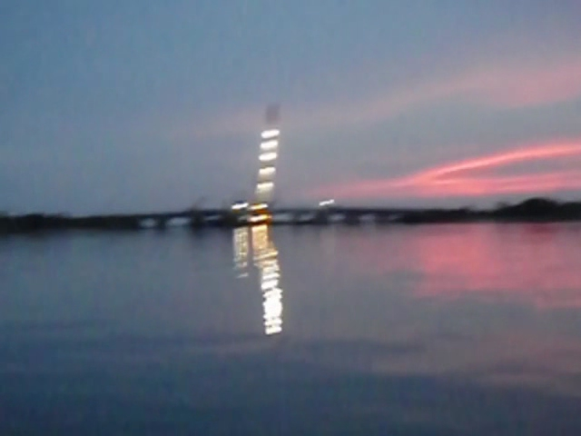 19 Panorama video on the Great South Bay at Sunset