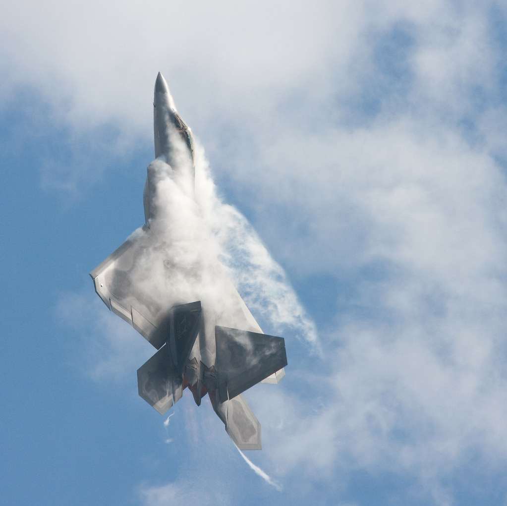 F 21 Raptor creates its own cloud camouflage   Nathan Rupert   Flickr