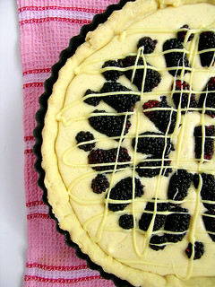 Mulberry White Chocolate Tart | by jamieanne