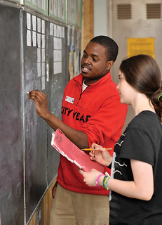 City Year Greater Philadelphia corps member tutoring a student   by cityyear