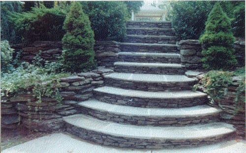 stone-fieldstone-steps-stairs-Atlanta   by ARNOLD Masonry and Landscape