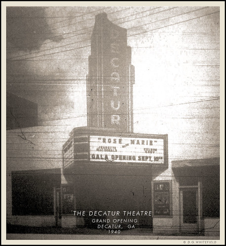 THE DECATUR THEATRE 1940 by -WHITEFIELD-