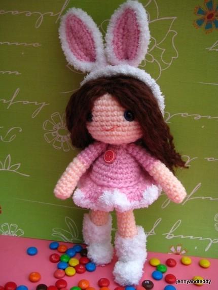 Girl with Bunny Hat Amigurumi Pattern – Snacksies Handicraft   572x430
