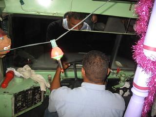 Driver Doing Good Job