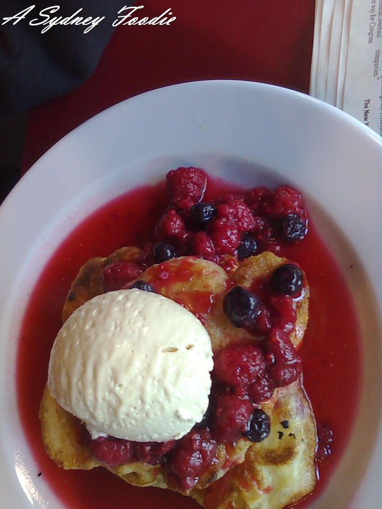 Berry buttermilk pancakes @ Brasserie Bread