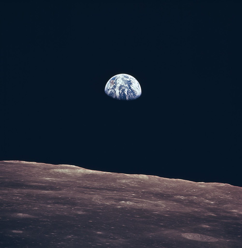 Photo of earth from moon surface