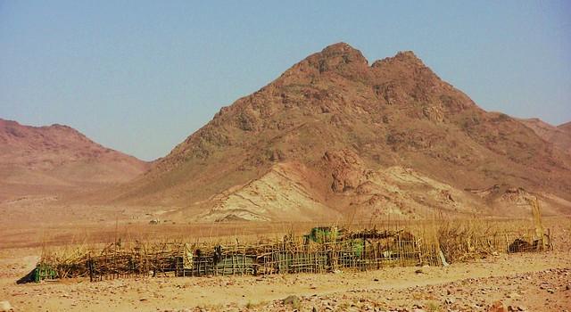 JORDANIEN - Viehgehege kurz vor dem Wadi Rum