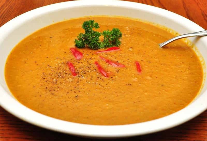 Sweet potato/chorizo soup