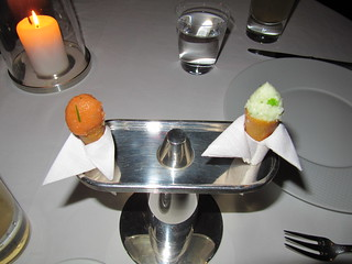 """Salmon Tartare """"Ice Cream cone""""   by rnair"""