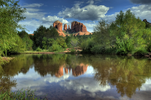Cathedral Rock Reflections   by puliarf