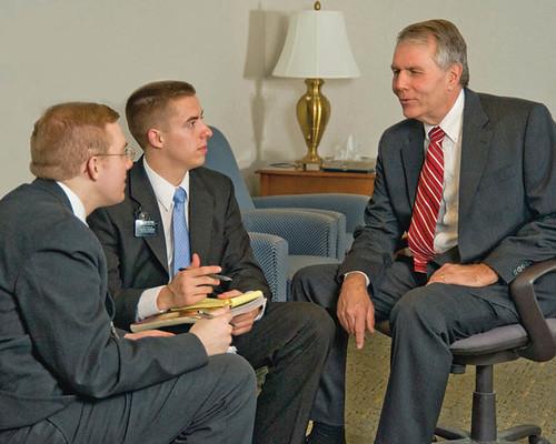 Man Mormon Missionaries   Missionary work is a fundamental ...
