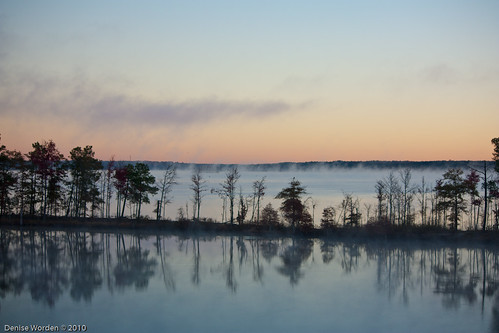 light lake water fog sunrise canon golden nc northcarolina goldenhour jordanlake 450d
