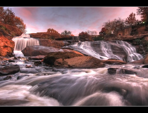 sc sunrise waterfall flickr outdoor southcarolina falls greenville fallspark reedyriver borderfx hdrphotomatix116