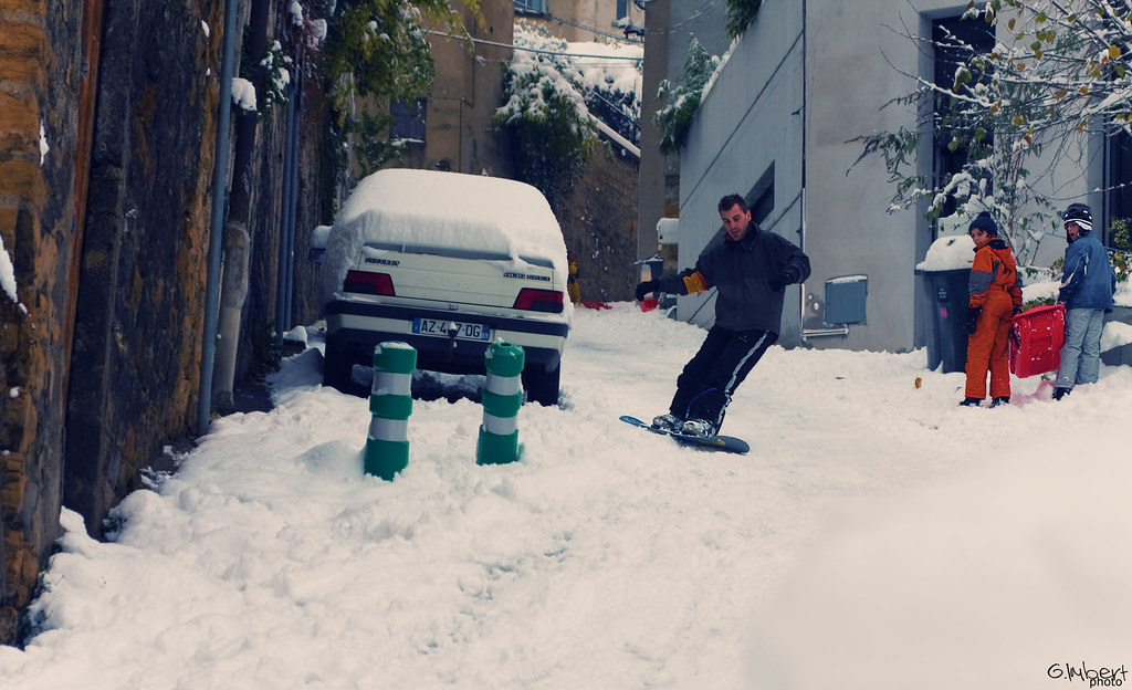 Snowboarding on the road