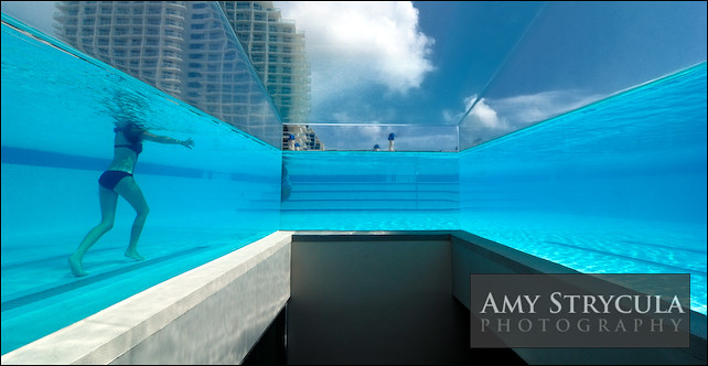 Glass Wall Swimming Pool - W Hotel, Miami | The glass walled ...