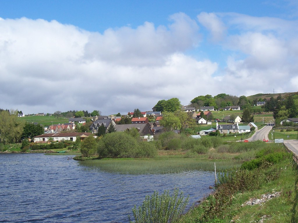 Lairg from Little Loch Shin, May 2010