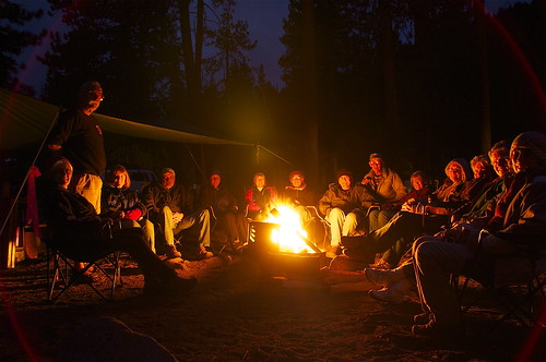 Campfire in the dark.   by jkirkhart35