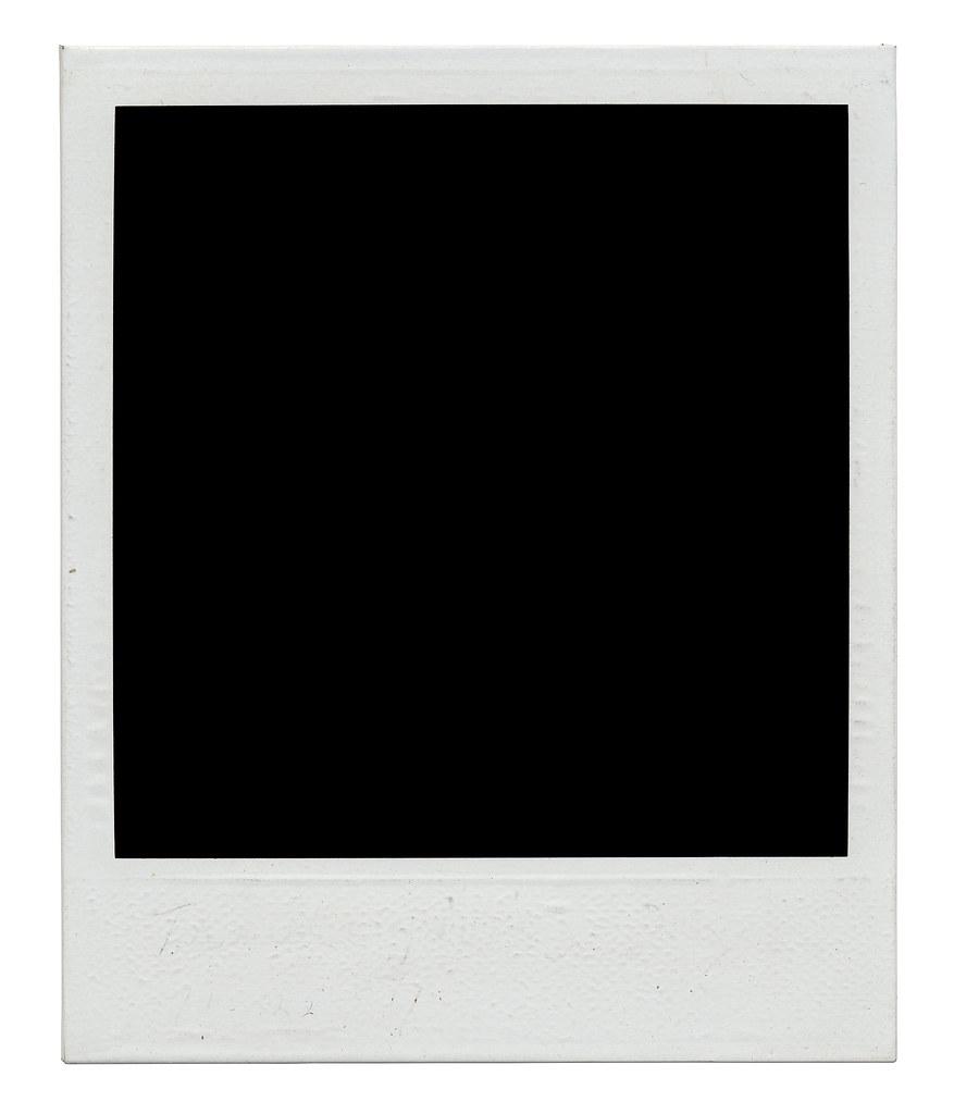 Black Polaroid Frame