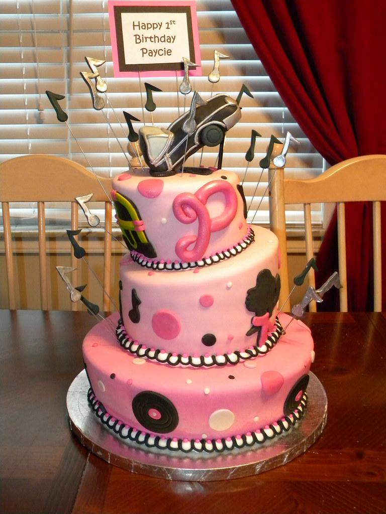 Prime 50S First Birthday Cake Jennifer Flickr Funny Birthday Cards Online Necthendildamsfinfo