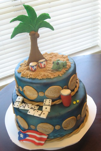 I Love Puerto Rico My Papis 55th Birthday Cake Covere Flickr