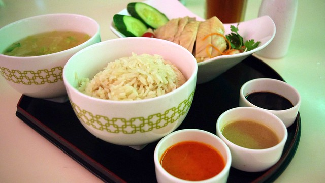 Hainanese chicken rice at Chatterbox - Singapore