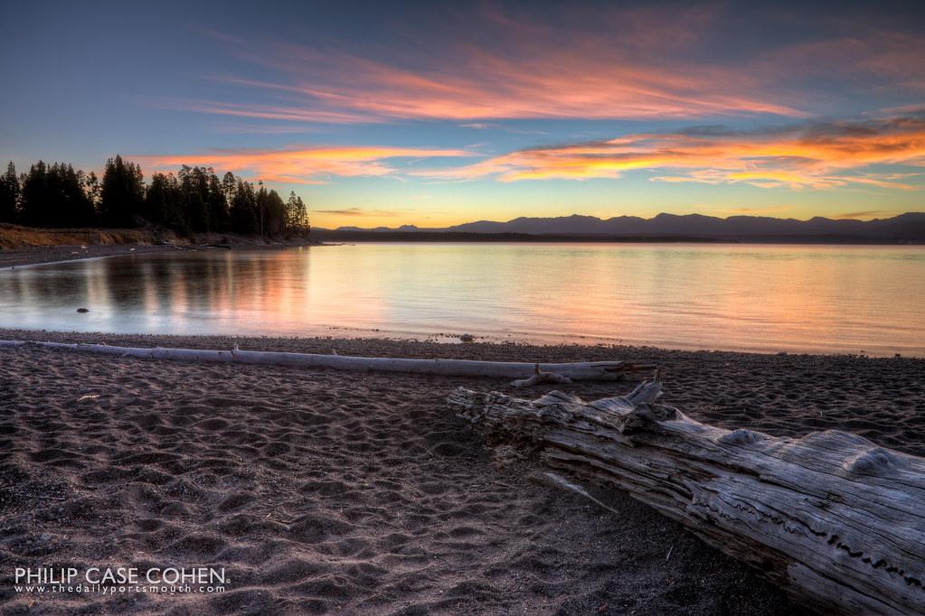 Yellowstone Lake Sunrise I by Philip Case Cohen