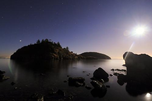 camping moon night stars washington nikon full pugetsound sanjuanislands dotisland padillabay hatisland d5000 saddlebagislandstatepark