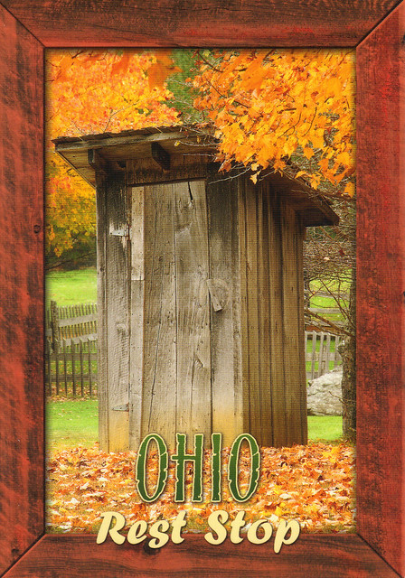 Ohio Outhouse Postcard