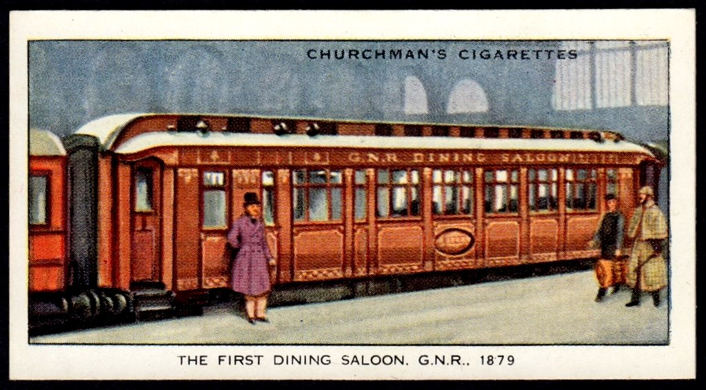 Cigarette Card - First Railway Dining Car