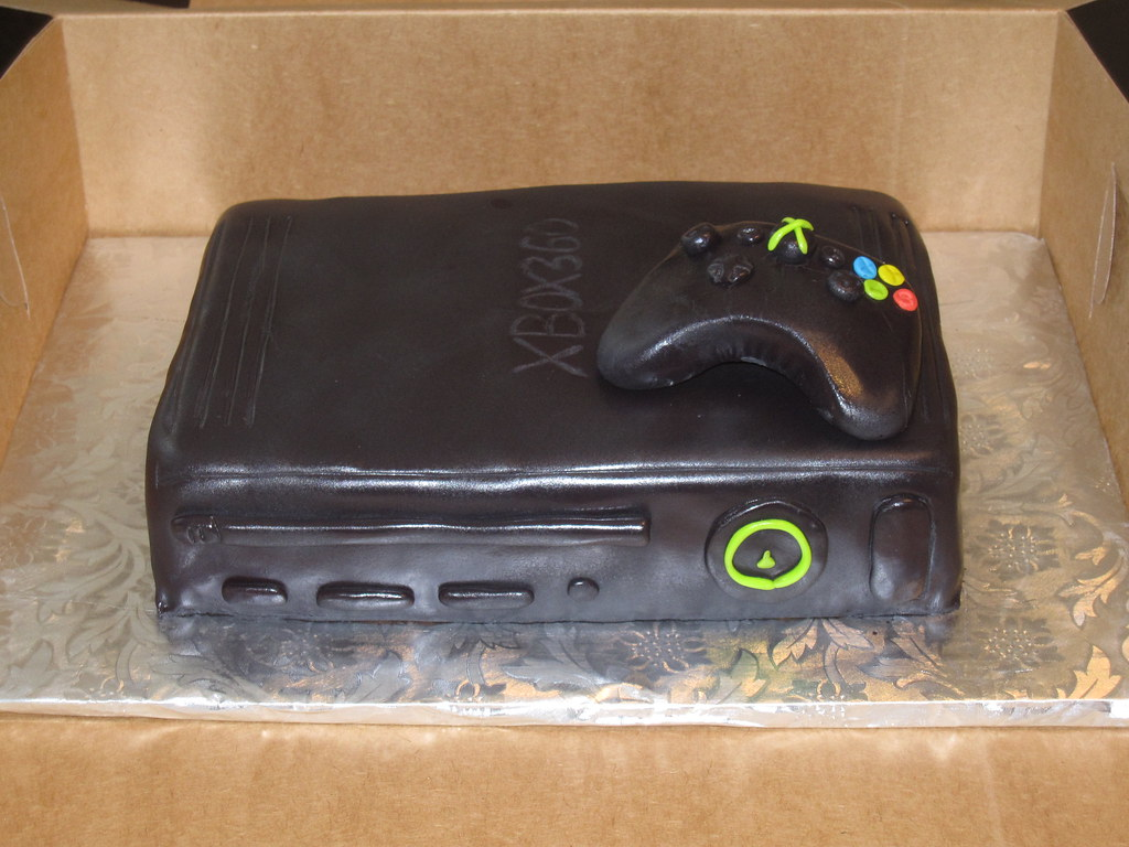 Tremendous Xbox 360 Birthday Cake This Video Game Console Was A White Flickr Funny Birthday Cards Online Alyptdamsfinfo