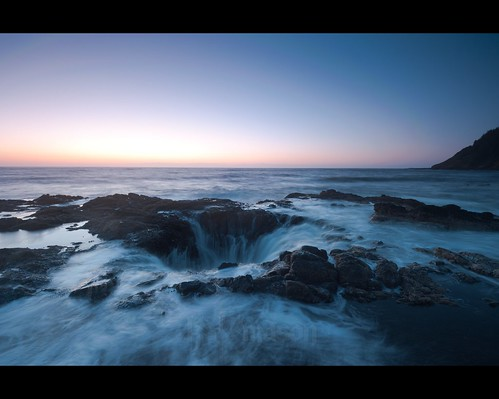 ocean longexposure sunset seascape water rock clouds oregon landscape coast waves pacific well lee filters yachats capeperpetua thors singhray cookschasm thorswell nikonafsnikkor1635mmf4gedvr tscf2010ar
