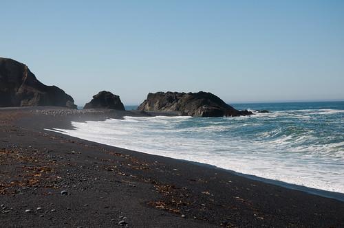 ocean california humboldt pacific anniversary 2010 lostcoast sheltercove blacksandbeach benbow