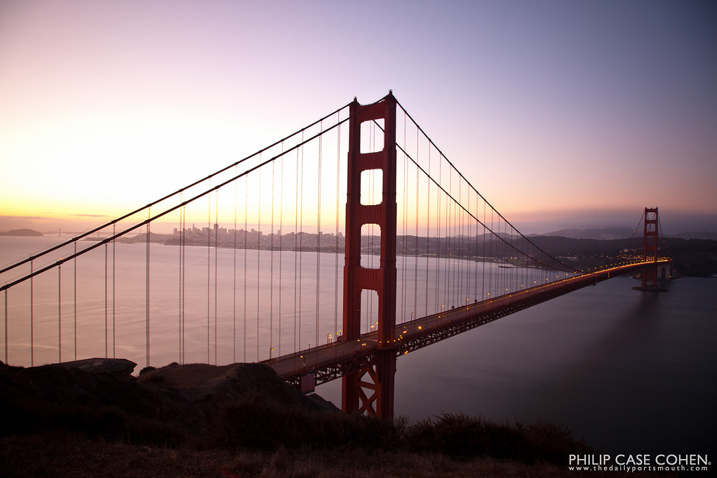 Golden Gate Sunrise by Philip Case Cohen