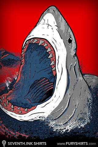 great white shark iphone wallpaper