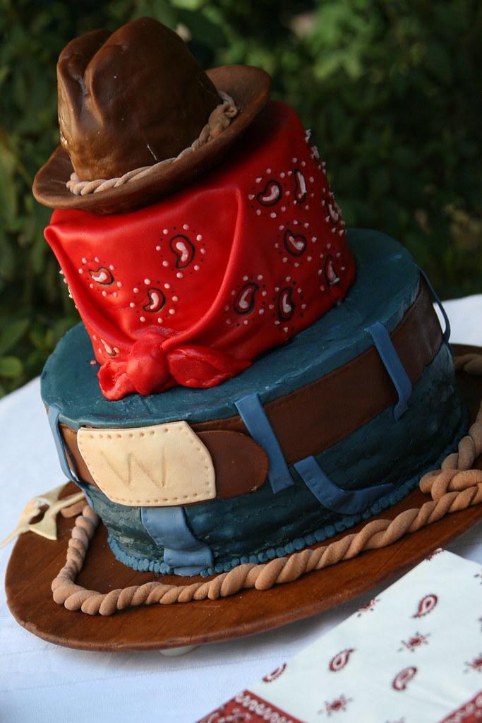 Cowboy birthday cake | Vanilla cake with vanilla buttercream… | Flickr