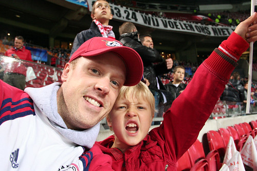 Ajax Game - Cheering from the Front Row | by Amsterdam Asp