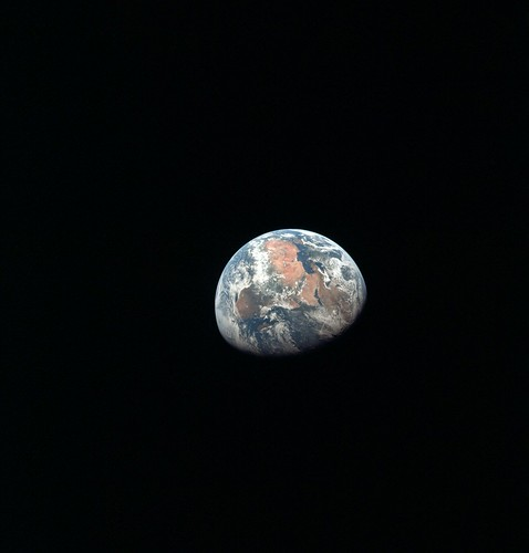 Apollo 11 Mission Image - Earth view over Africa, the Mediterranean and the Middle East | by NASA on The Commons