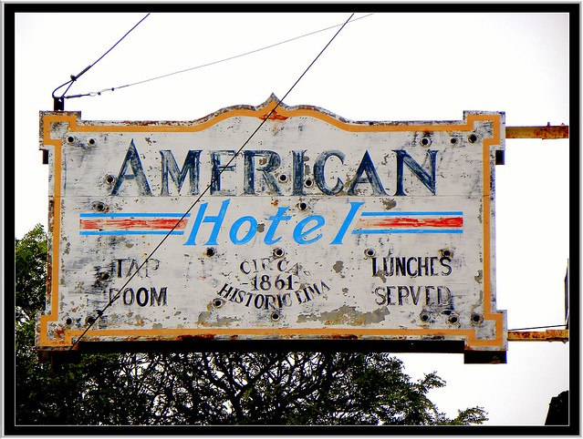 Lima NY ~ American Hotel ~ Former Neon Sign